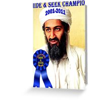 Hide & Seek Champion Greeting Card