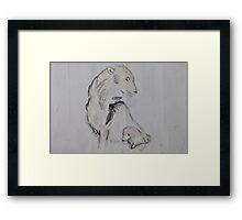 Polar Bear and Cub Framed Print