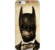 Batman + Abe Lincoln Mashup iPhone Case/Skin