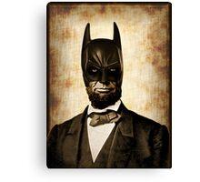 Batman + Abe Lincoln Mashup Canvas Print