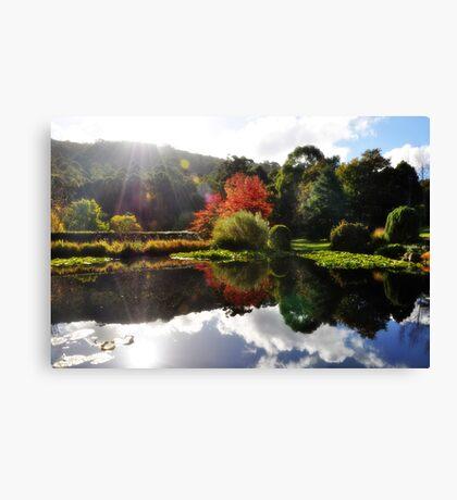 Autumn's Mirror Image  Canvas Print