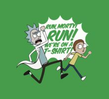 Rick and Morty On A Tshirt Kids Clothes