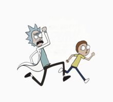 Rick and Morty On A Tshirt Baby Tee