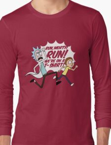Rick and Morty On A Tshirt Long Sleeve T-Shirt