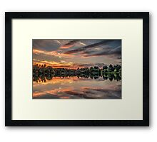 HDR Sunset at Tiddenfoot Framed Print