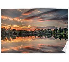HDR Sunset at Tiddenfoot Poster