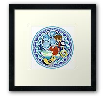 Kingdom Hearts Station (Blue) Framed Print