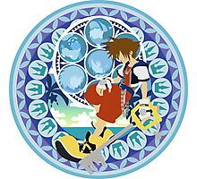 Kingdom Hearts Station (Blue) Photographic Print