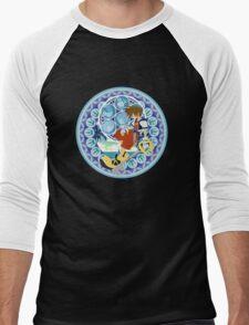 Kingdom Hearts Station (Blue) Men's Baseball ¾ T-Shirt