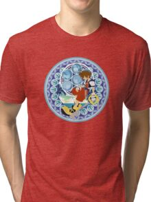 Kingdom Hearts Station (Blue) Tri-blend T-Shirt