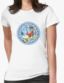 Kingdom Hearts Station (Blue) Womens Fitted T-Shirt