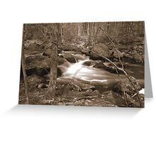 Twin Bridges Stream - Merrimack , NH Greeting Card