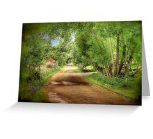 Paech Road - Paechtown, Hahndorf, South Australia Greeting Card