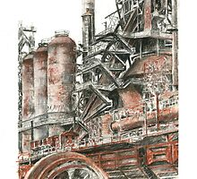 Blast Furnaces, Bethlehem, Pennsylvania by Tobiah Horton