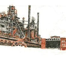Bethlehem Steel Blast Furnaces and Blower House by Tobiah Horton