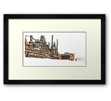 Bethlehem Steel Blast Furnaces and Blower House Framed Print