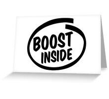 boost inside Greeting Card