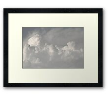 Clouds in black and white Framed Print