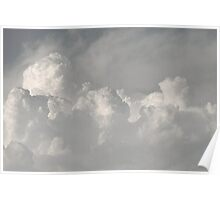 Clouds in black and white Poster