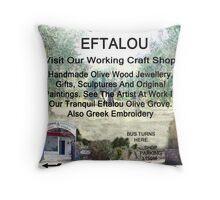 Eftalou Olive Wood Shop Throw Pillow