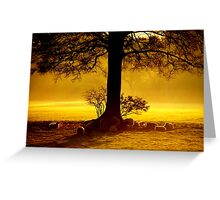 """IN THE SHADE OF THE OAK"" Greeting Card"