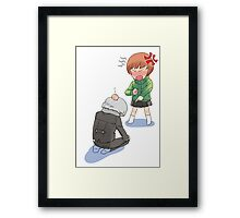 chie and yu Framed Print
