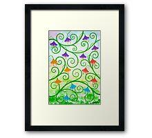 FREE EXPRESSION 2 - AQUAREL AND GOUACHE Framed Print