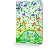 FREE EXPRESSION 2 - AQUAREL AND GOUACHE Greeting Card