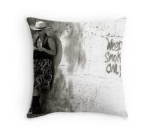 Multi-Colored Lady  Throw Pillow