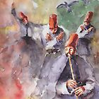 Whirling dervishes and pigeons. by faruk koksal