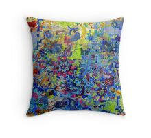 Rube Goldberg Abstract Throw Pillow
