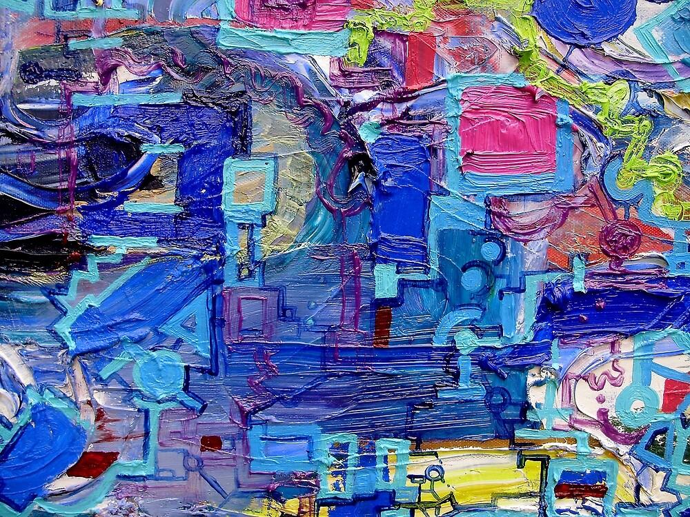 Excerpt  2 from Rube Goldberg Abstract by Regina Valluzzi