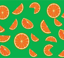 Bright collection of orange slices, background by Evik