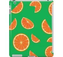 Bright collection of orange slices, background iPad Case/Skin