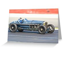 Hispano Delage 500CV Greeting Card