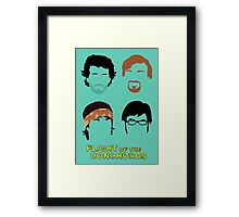 Flight of the Conchords: Silly-ettes Framed Print