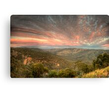 The Golden Quarter Mile - Merlin's Lookout, Hill End NSW, Australia - The HDR Experience Canvas Print