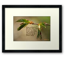 He who has begun in you a good work ~ Phil 1:6 Framed Print