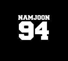 BTS Bangtan Boys Rap Monster Namjoon Football Design White by impalecki