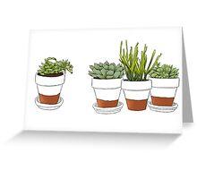 Succulent Cactus Print Greeting Card