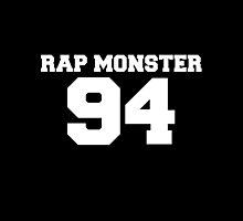 BTS Bangtan Boys Rap Monster Football Design White by impalecki