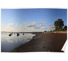 Tranquil morning on the Deben River Poster