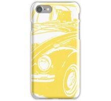 Classic VW Beetle Tee Yellow Ink iPhone Case/Skin