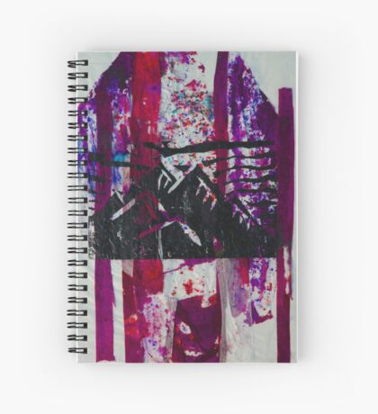 Pink Mountain Range Spiral Notebook