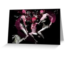 Pink ladies in the bar Greeting Card