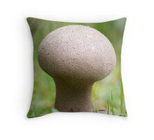 Long-stemmed Puffball Mushroom Throw Pillow