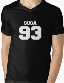 BTS Bangtan Boys Suga Football Design White Mens V-Neck T-Shirt