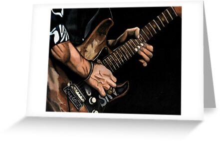Stevie Ray Vaughn by lindsycarranza