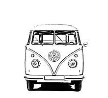 VW Bus T-shirt Photographic Print