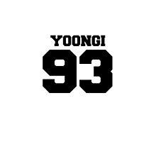 BTS Bangtan Boys Suga Yoongi Football Design Black by impalecki
